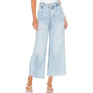 Free People We The Free Kinsey Wide Leg Crop Jeans Size 27 NEW With Tag